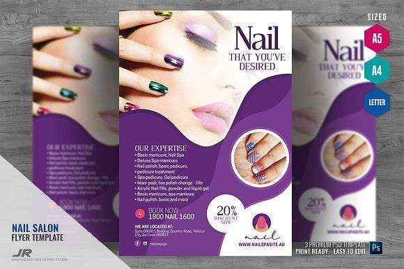 nail salon creative flyer spa flyer
