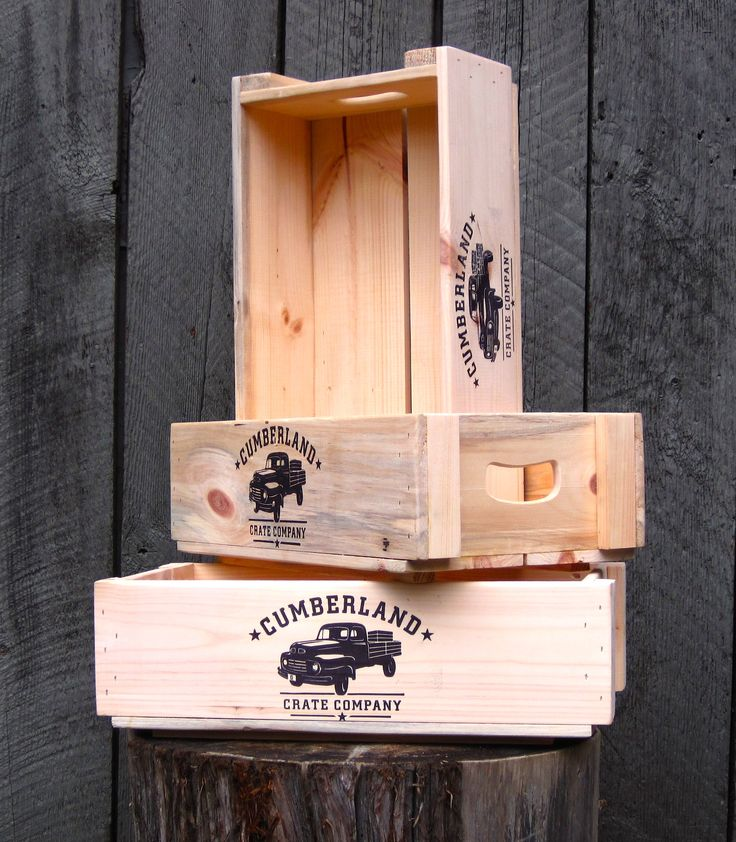 "Fancy Frannie is a beautiful wooden crate! Made of 1/2"" White Pine. Locally milled, locally made! www.cumberlandcratecompany.com"