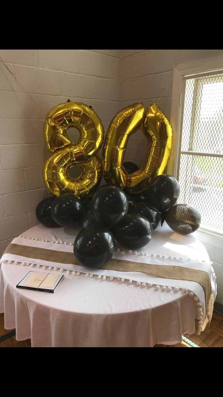 25 best ideas about 80th birthday decorations on for 80th decoration