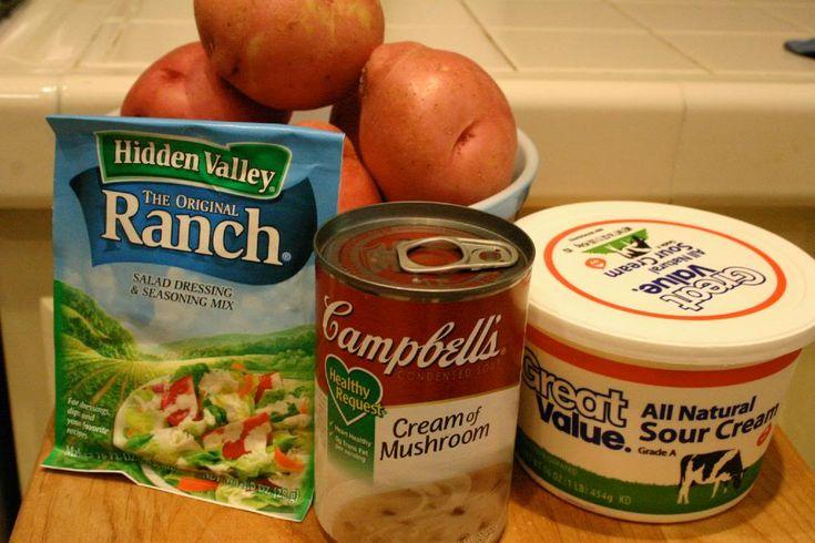 Ranch CrockPot Potatos- easy peasy...