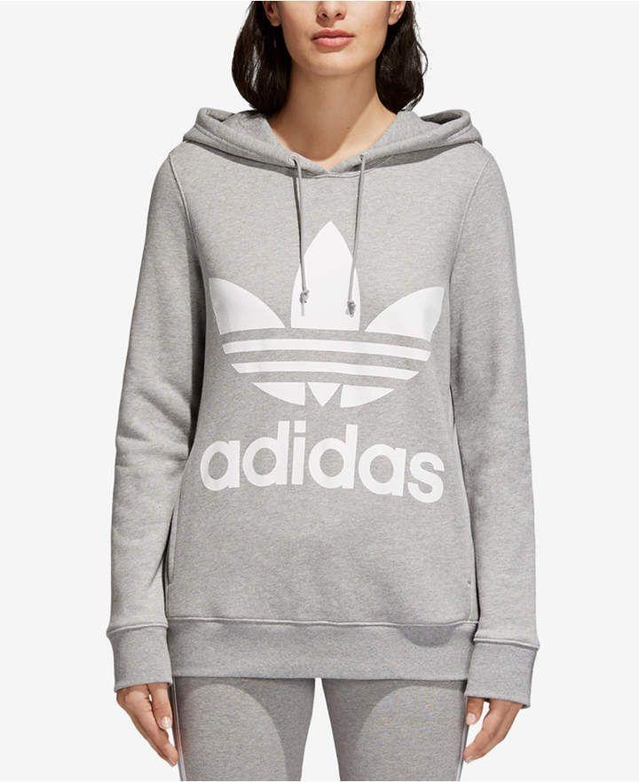 adidas adicolor Cotton Trefoil Hoodie | Hoodies, Adidas