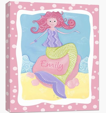 Milly the Mermaid Canvas Reproduction