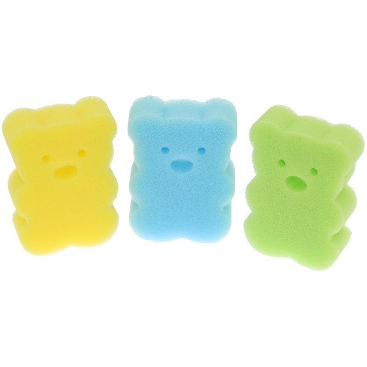 Newborn Cartoon Rub Baby Bath Sponge Essential Random Color