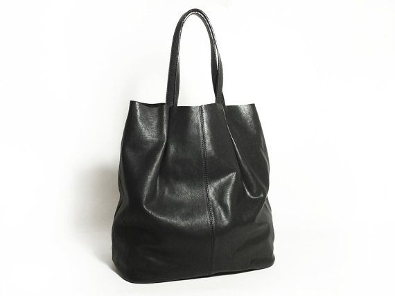 Genuine Leather Shoulder Tote Leather Purse Leather by MillionKnit, $146.00