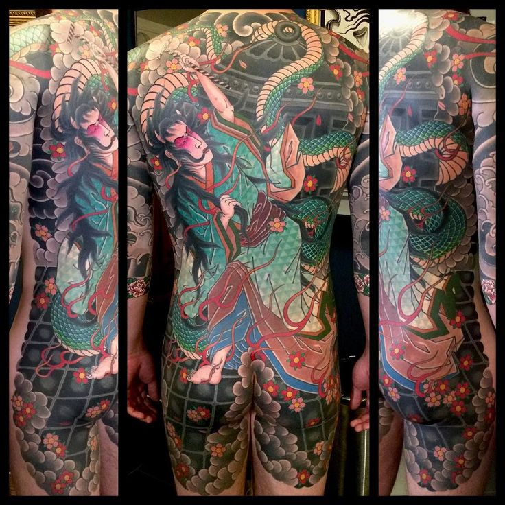 Today we finished the Kiyohime back piece on @instagram_enrico. Congratulations Enrico for your dedication and thank you for giving me the opportunity to do this for you. You're the best!!!...