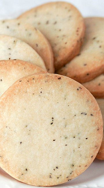 Downton Abbey Earl Grey Shortbread Cookies... As much as I love Earl Grey tea...and now shortbreads!!!