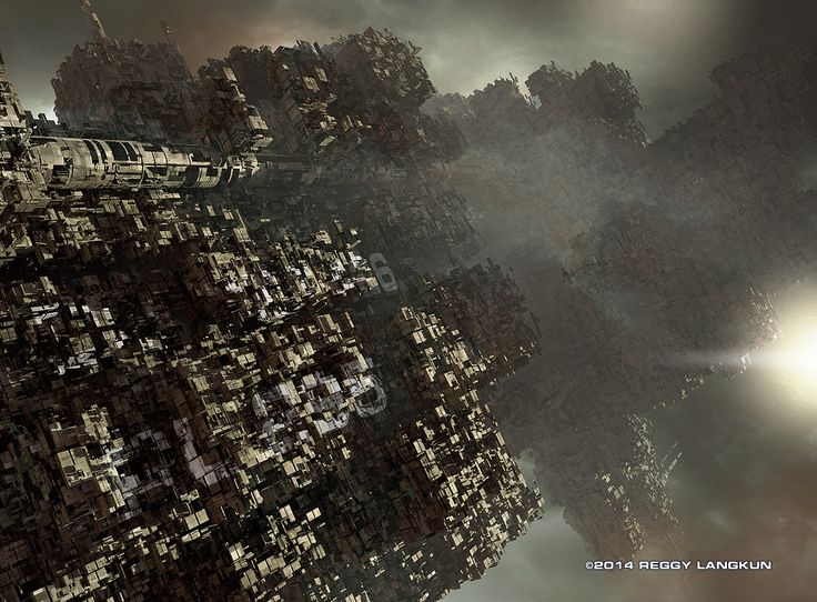 Spacestation. Done in Modo801, Photoshop. Reggy Langkun © 2014