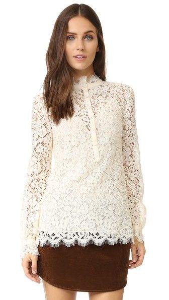 Rachel Zoe Black Lace Blouse 102