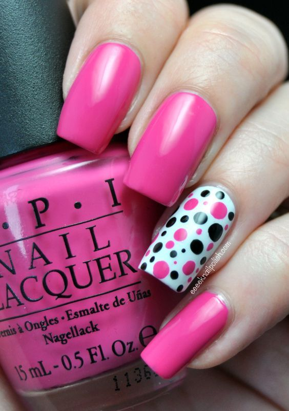 Polka dot nails are cute, but tooooo long in my opinion!