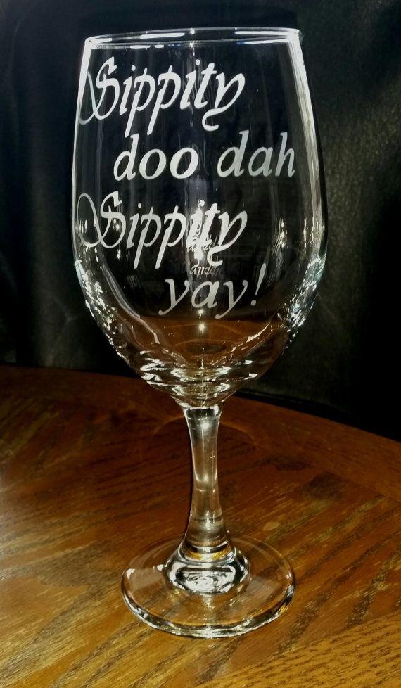 etched 20 oz. wine glass
