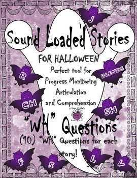Halloween Sound Loaded Short Stories for Speech Therapy wi