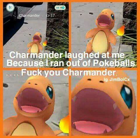 Pokémon Go Humor, Charmander