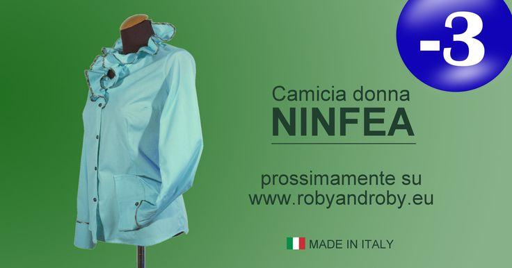 Camicia Donna NINFEA prossimamente su www.robyandroby.eu