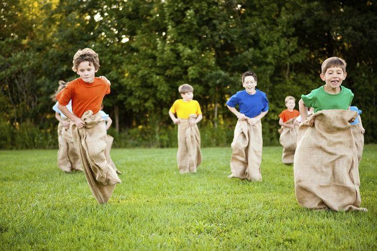 Risky play idea #5: A family sack race!