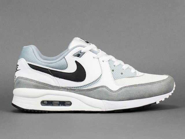 nike air max light essential black white & flat pewter figures