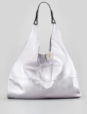 VINCE CAMUTO - Kalay Metallic Leather Hobo Bag