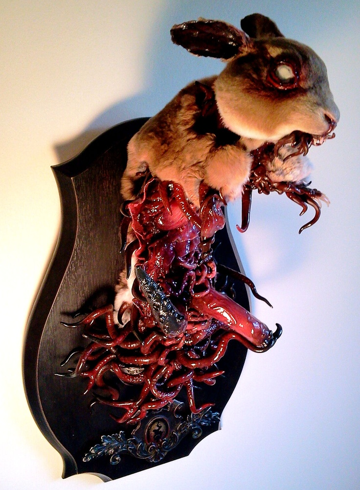 It's what is inside that counts - Emily Slade  http://www.laluzdejesus.com/shows/2012/Rogue-Taxidermy/RogueTaxidermy2012.htm