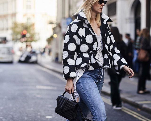 Found this oldie but goodie crazy polka dot shot for @theimpression_ during last #LFW. : @thestylestalkercom Jacket: @msgm Dress: @mango Bag: @ysl  Sunglasses: @lespecs