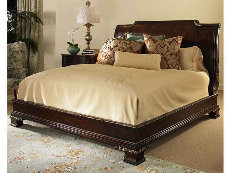 king size bed headboard only luxurious sized with gold linen measurements frame and footboard