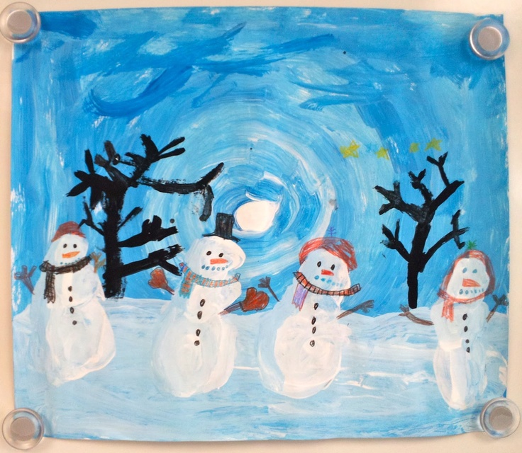 Art with Ms. Gram: Winter Value Landscapes (2nd)