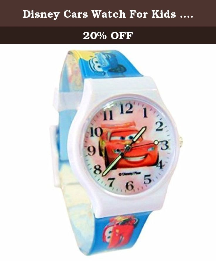 "Disney Cars Watch For Kids .Glow In The Dark Watch Hands .Large Analog Dial. 9""L Band. Disney Cars Wrist Watch For Kids .Small Analog Dial. 9""L Band."