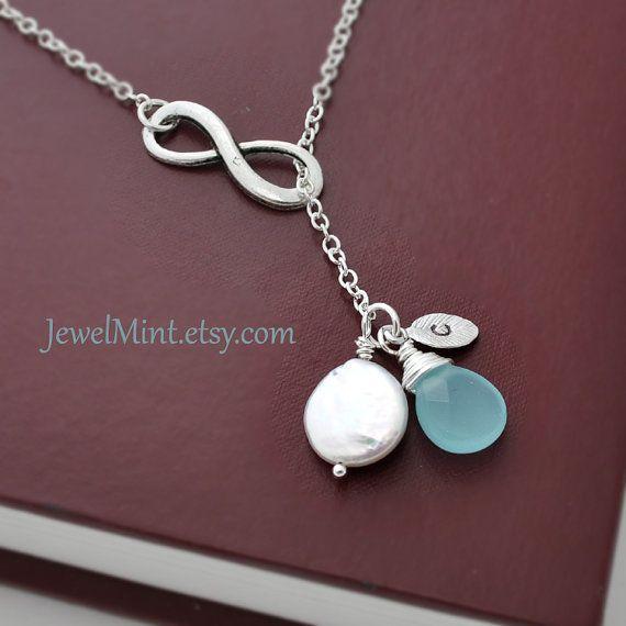 LOVE! Silver infinity Necklace infinity jewelry Lariat by Jewelmint