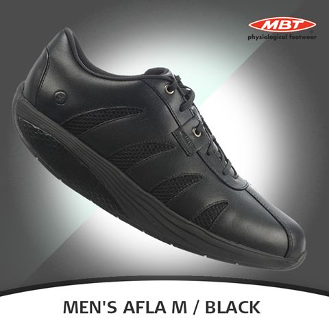 MBT Men's Afla M are a pair made to work as hard as you do... and then some. Designed with the service industry in mind using water-resistant uppers and slip-resistant outsoles, these shoes make a perfect addition to your work attire.