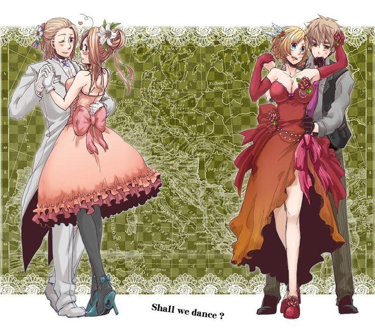 And fem america with england dancingfrance england anime manga fem