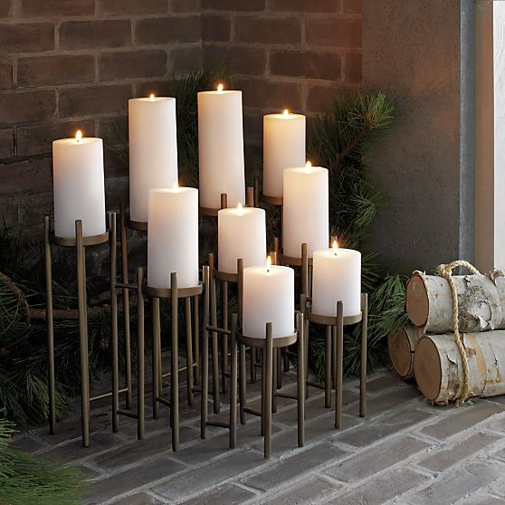 Antique Brass Fireplace Candelabra in Fireplace Accessories | Crate and Barrel