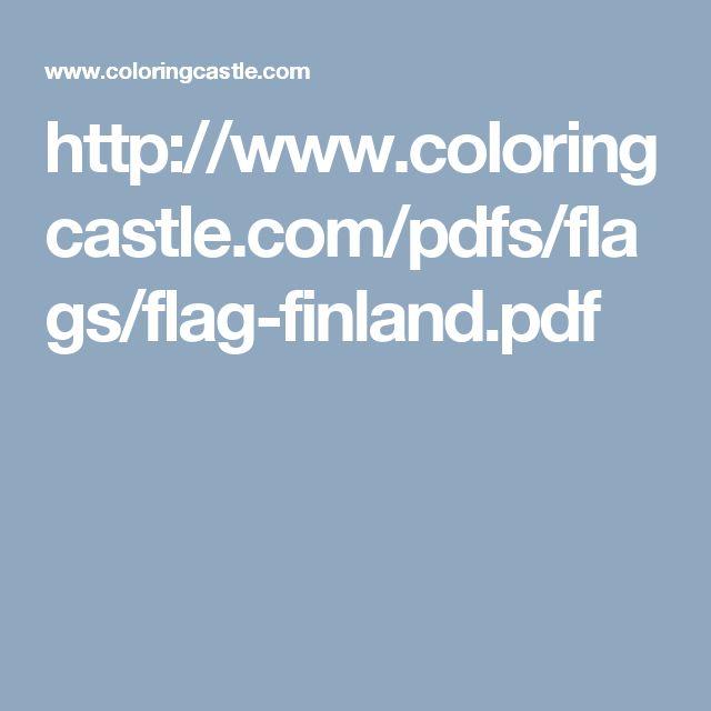 Väritettävä suomen lippu