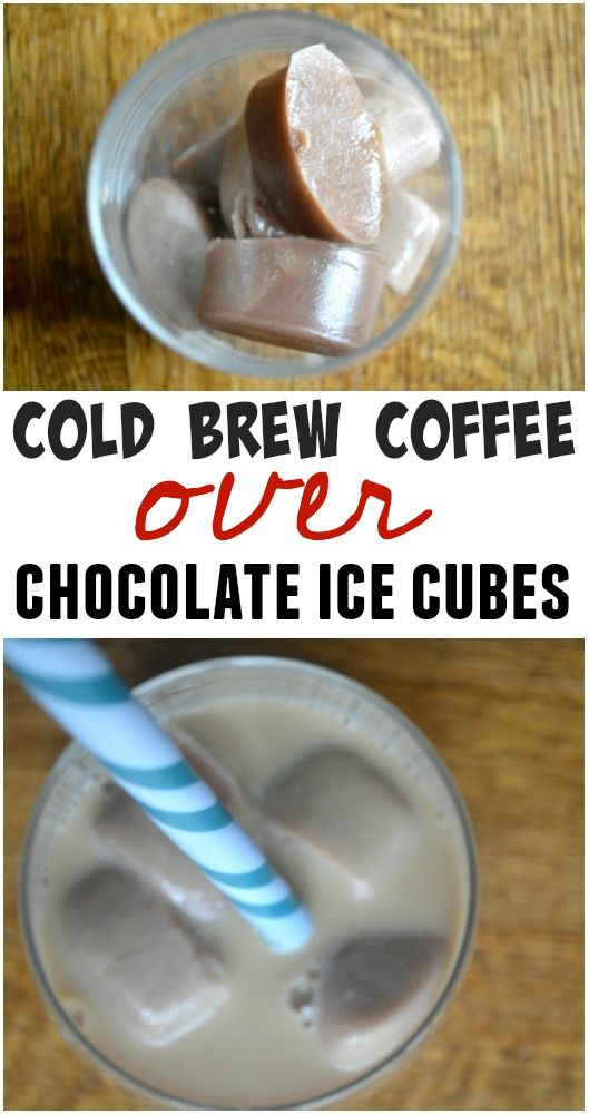 Cold Brew Coffee Over Chocolate Milk Ice Cubes- And a Daylight Savings Deal -make the best of everything
