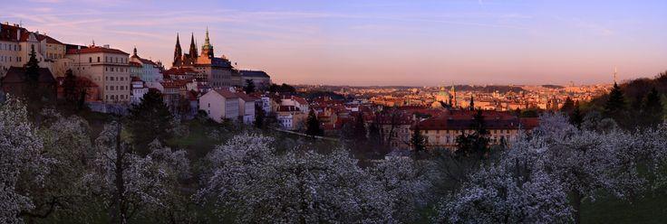 Panorama van Praag in de schemering. Foto: Michal Vitásek ©CzechTourism www.czechtourism.com