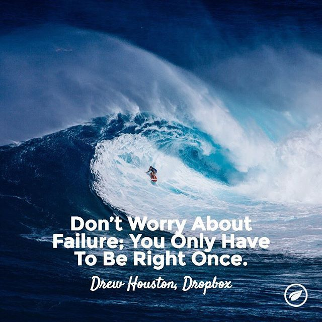 Don't let the fear of failure hold you back! #startup #success #mondaymotivation #entrepreneurquotes