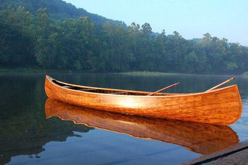 I want a pretty wooden canoe