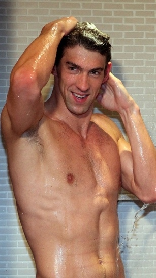 Michael Phelps - outtake from his Head and Shoulders commercial - wow, wow, wow!