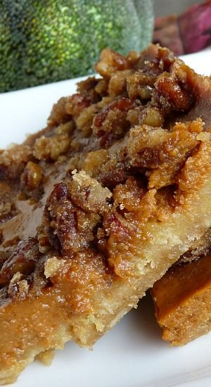 Pecan Pumpkin Pie Bars ~ with a perfect oatmeal crust! Easy, fast and just right!