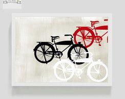 Poster Decorativo Bikes Vintage