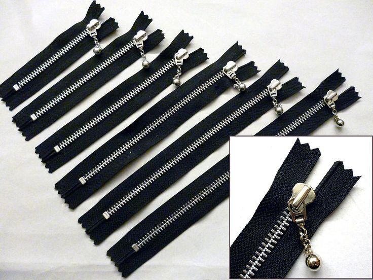Zip, Zipper, Ball & Chain Puller, Closed End, Metal, YKK, Black #YKK