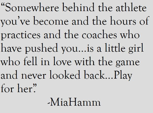 mia hamm soccer quotes inspirational - Google Search