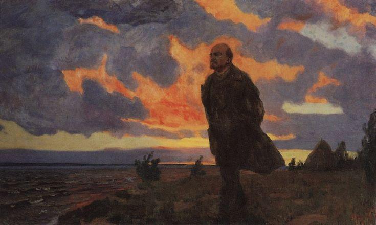 Vladimir Lenin on Lake Razliv (Arkady Rylov - )