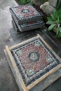 A real master and he shares his techniques.. for those want to build some incredible mosaic stepping stones.