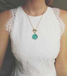 Lace and necklace