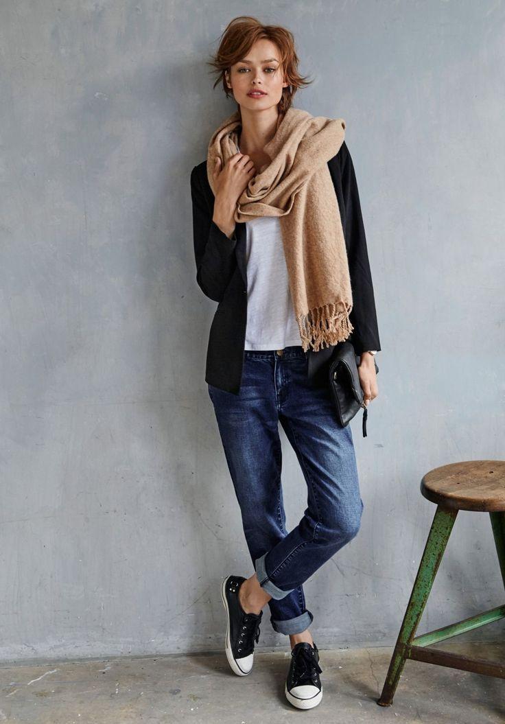 Boyfriend Jeans 2018 kombinieren: So gestalten Sie Ihre Boyfriend Jeans im Winter