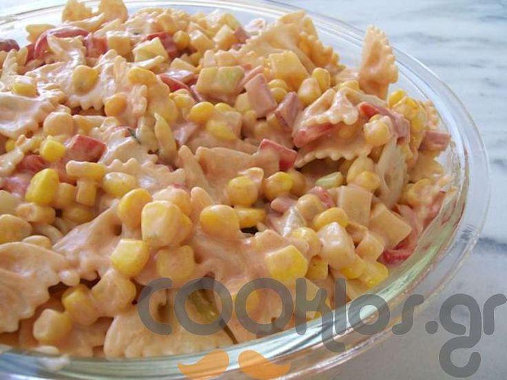 Μακαρονοσαλάτα με καλαμπόκι και πιπεριές - Συνταγή εύκολες - Σχετικά με Ζυμαρικά και ρύζια, Ζυμαρικά, Σαλάτες με ζυμαρικά, Σαλάτες, Σαλάτες ζυμαρικών - Ποσότητα 4-6 άτομα - Χρόνος ετοιμασίας λιγότερο από 30 λεπτά