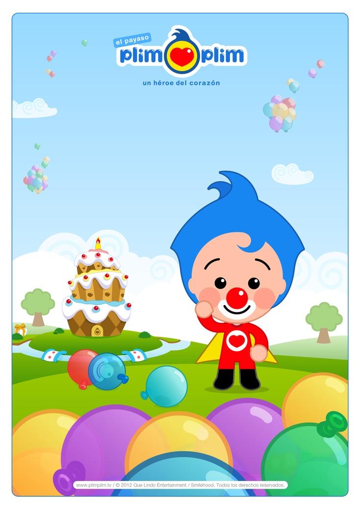 ¡Imprime la imagen de Plim Plim y dibuja los globos más divertidos! ¡CLARO QUE SÍ!