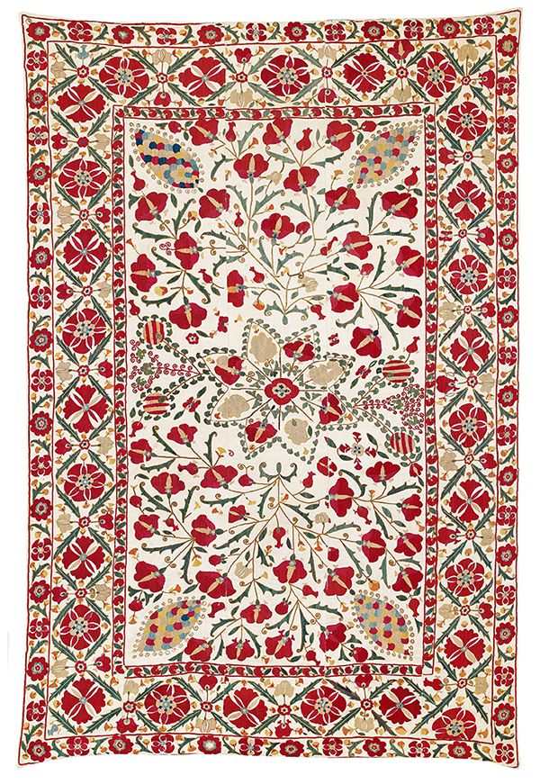 Karshi suzani, Uzbekistan, second half 19th century. Estimate €9,000