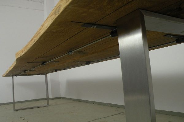 tisch eiche 400cm mit verspannung wohnen pinterest esstische moderne st hle und tischgestell. Black Bedroom Furniture Sets. Home Design Ideas