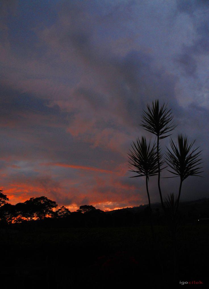 Sunset di Gunung Dempo