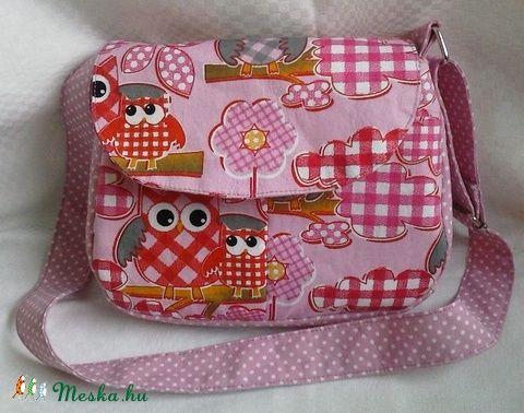 Baglyos kislány  táska (Teafa) - Meska.hu