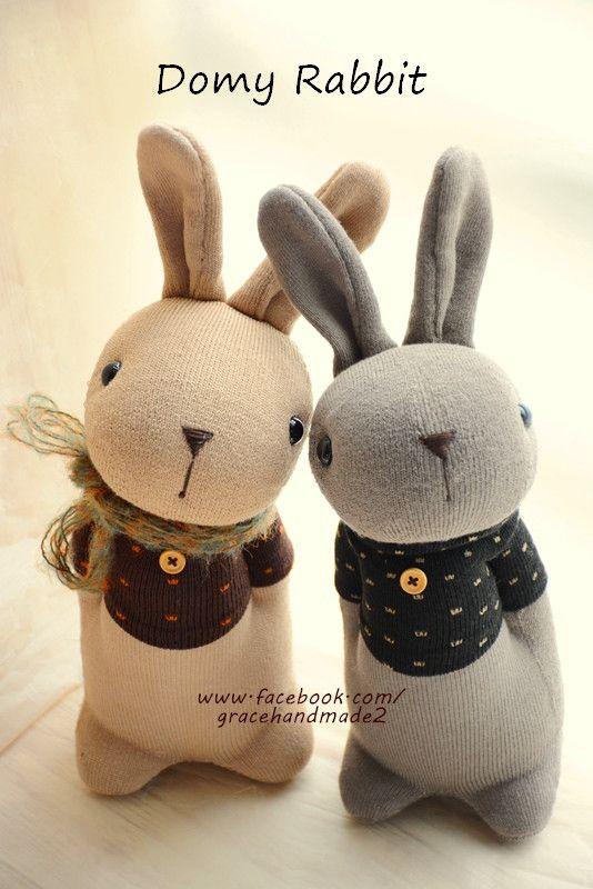 Grace--#372+#373 sock Domy Rabbits